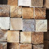 A pile of wooden bars royalty free stock image