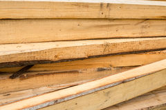 Pile of wooden beams Royalty Free Stock Photo
