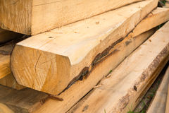 Pile of wooden beams Royalty Free Stock Image