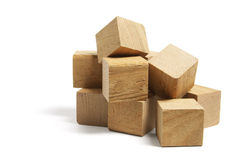 Pile of Wooden Blocks Stock Images