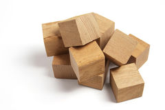 Pile of Wooden Blocks Stock Image
