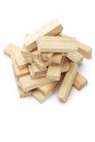 Pile of wooden blocks Royalty Free Stock Image