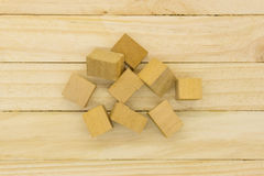 Pile of Wooden Blocks Stock Photography
