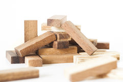 Pile of wooden blocks Royalty Free Stock Images