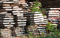 Pile of wooden boards Stock Image