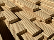Pile of wooden boards Stock Images