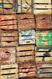 Pile of wooden boxes Stock Images