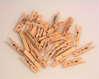 Pile of Clothes Pins. Pile of wooden Clothes Pins Stock Photos