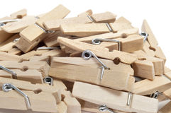 Wooden clothespins Royalty Free Stock Image