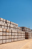 Pile of wooden crates Stock Photography