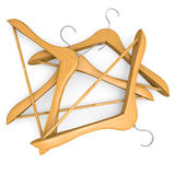 Pile of wooden hangers Royalty Free Stock Images