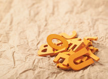 Pile of wooden letters Royalty Free Stock Photo