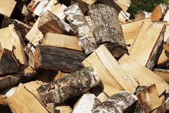 A pile of wooden logs Royalty Free Stock Photo