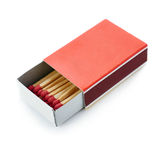 Pile of Wooden matches isolated over the white background Royalty Free Stock Photo