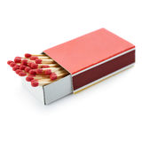 Pile of Wooden matches  over the white background Stock Image