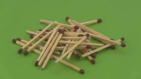 Pile of wooden matches. Stock Photography