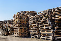 Pile of wooden pallet stock photos