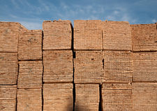 Pile of wooden planks (boards) Stock Image