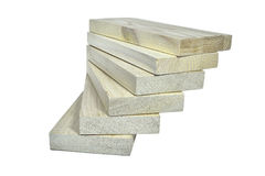 Pile of wooden planks - an eco-friendly building material Stock Image