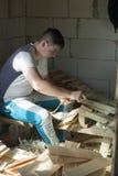 Pile of wooden shingle Royalty Free Stock Photo