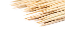 Pile of wooden skewers  Royalty Free Stock Images