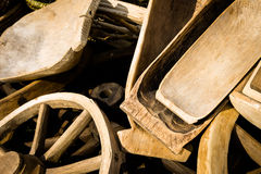 Pile of wooden ware Royalty Free Stock Images