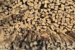 Pile of woodfire Stock Image