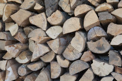 A pile of woods for fireplace Stock Photo