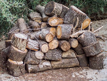 Pile of woods. In a greek village .epirus northen greece Royalty Free Stock Images