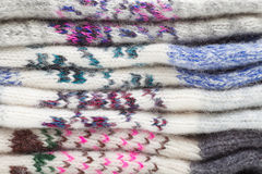 Pile of wool clothing Royalty Free Stock Photos