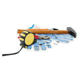 Pile of working tools over isolated white background Stock Photography