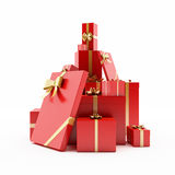Pile of wrapped presents Stock Photo