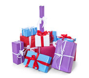 Pile of wrapped presents Stock Photography