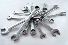 Pile of wrenches Royalty Free Stock Photos