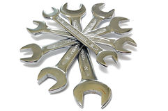 Pile of Wrenches (Spanners) Stock Images