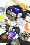 Pile of wrist watches. Pile of various wrist watches Stock Photography