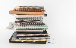 Pile of Writing Journals Stock Images