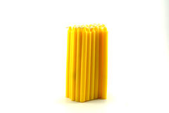 A pile of yellow candel Royalty Free Stock Images