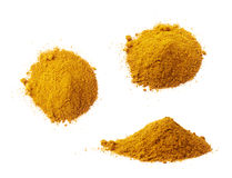 Pile of yellow curry powder Stock Image