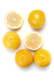 Pile of yellow grapefruits Royalty Free Stock Images