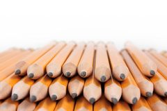 Pile of yellow pencils Royalty Free Stock Photo