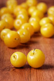 Pile of yellow plums Stock Image