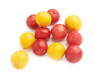 Pile of yellow and red plums Stock Photography