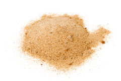 Pile of yellow sand Stock Images