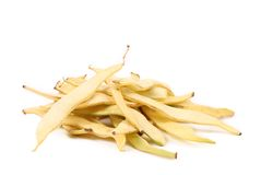 Pile of yellow wax bean pods. Royalty Free Stock Images