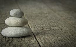 A Pile of Zen Style Stones Stock Photo