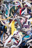 Pile of zippers Royalty Free Stock Images