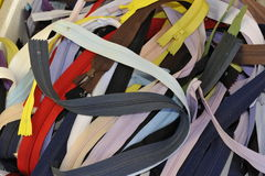 Pile of Zippers Royalty Free Stock Photo