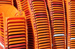 Piled Beach Chairs Stock Image