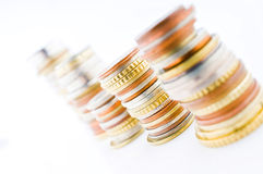 Piled coins Stock Photo